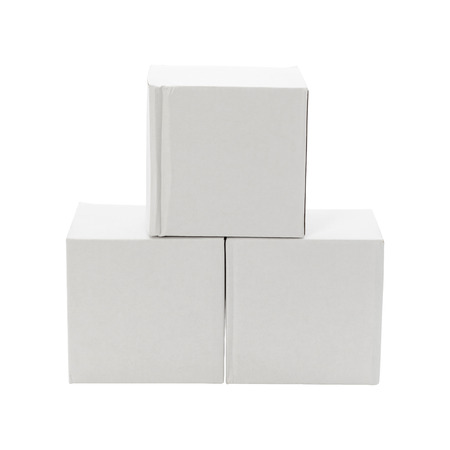 White box isolated on white background. Cardboard package foe delivery or your design.