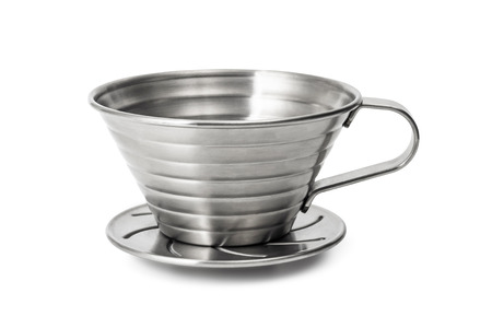 Stainless Steel  cup isolated on white background.