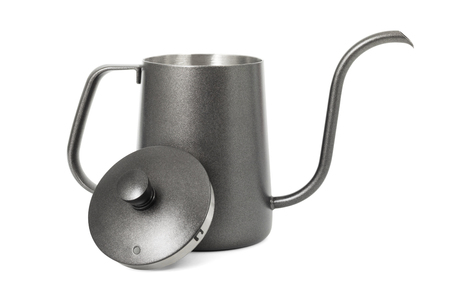 Coffee kettle isolated on white background. Stok Fotoğraf