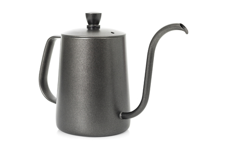 Coffee kettle isolated on white background . Tea kettle with handle.