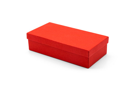 Red box isolated on white background Stok Fotoğraf