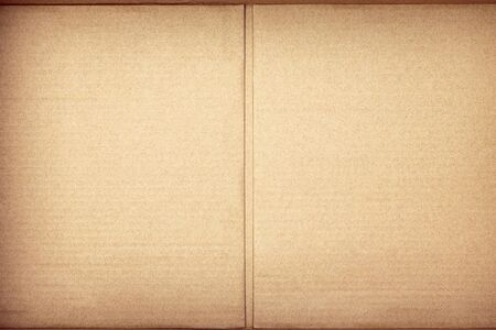 Brown paper texture or cardboard background. Surface of recycled paper material.