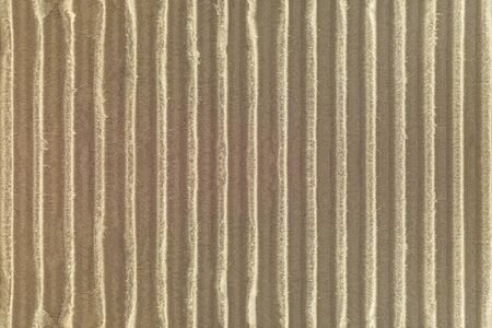 Corrugated cardboard texture background. Detail of craft paper made from natural material. Stock Photo