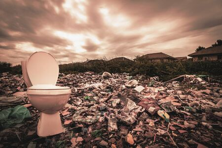 A huge amount of waste from the houses and industrial factories that were left without consciousness. Garbage dumps that cause greenhouse gases or global warming.