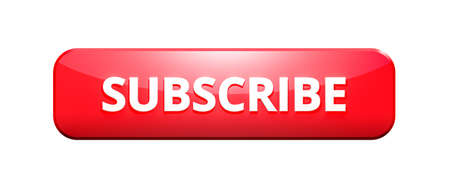 Subscribe button or subscription online membership isolated on white background with notification channel. 3D rendering.
