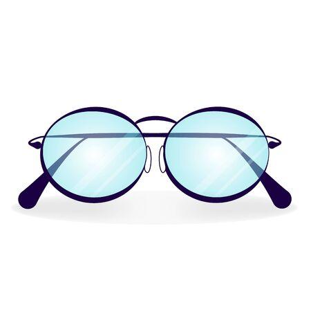 Blue eyeglasses with azure glasses on a white background vector illustration