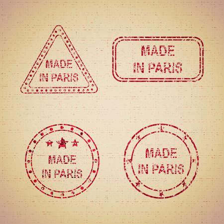 Stamp made in Paris concept vector illustration graphic design grunge vintage texture Ilustración de vector