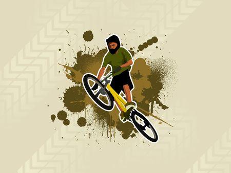Grunge country rider photo