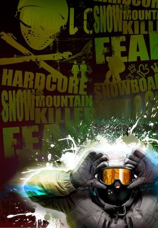 Disco or tour snowboard poster  photo
