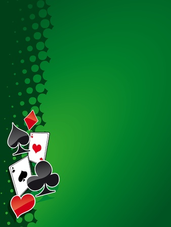 betting: Poker and casino background (magazine, web)
