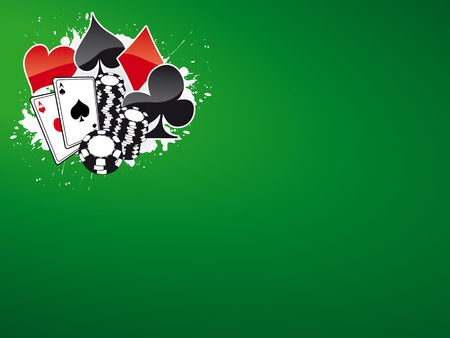 Poker and casino background (magazine, web)