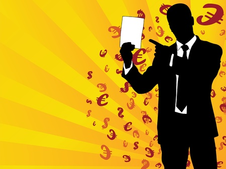 motivator: Exam sheet a motivator with a successful and rich businessman