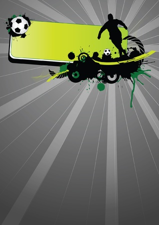 Grunge soccer sport (background, web, slyer, magazin...)  Vector