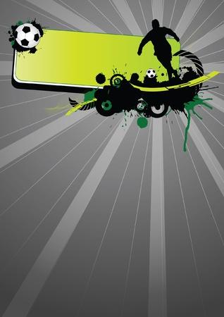 soccer players: Grunge soccer sport (background, web, slyer, magazin...)