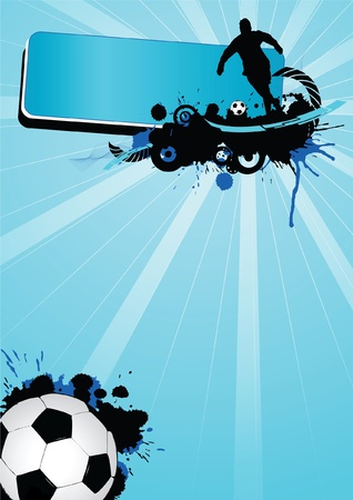 soccer fields: Grunge soccer sport (background, web, slyer, magazin...)