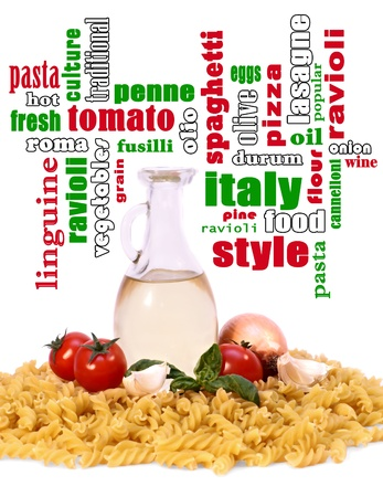 reciept: Background As a Abstract italian food style Stock Photo