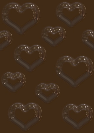 Sweet cocolate heart (background, flyer, wallpaper, web...) photo