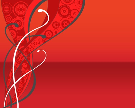 throwaway: Red retro floral background (flyer, wallpaper, web...)