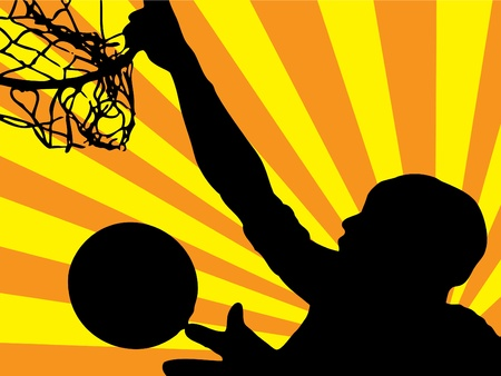 NBA star jumping (background, wallpaper, flyer, web...)  photo