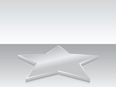 Silver star in mirror (background, magazin, flayer, web...) Stock Photo - 8980162