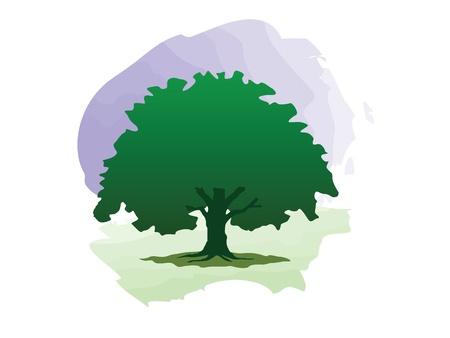 Green tree logo (flyer, background, wallpaper, web...) Stock Photo - 8980147