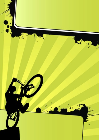Modern color trial cycling background (poster, mail, web) Stock Photo - 9638721