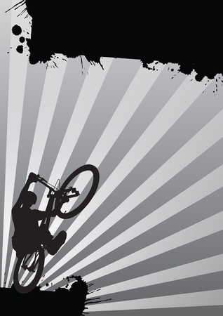 Modern color trial cycling background (poster, mail, web) photo