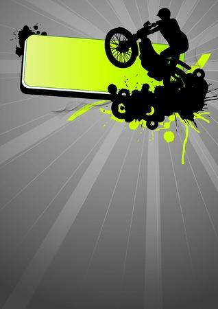 Grunge motocross sport (background, web, slyer, magazin...) Stock Photo - 9638732