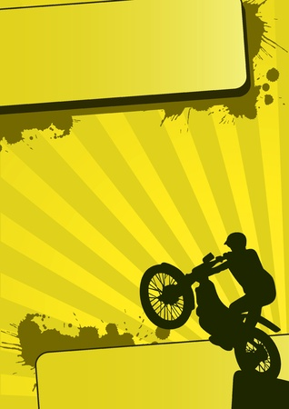 Grunge motocross sport (background, web, slyer, magazin...)  Stock Photo - 9638726