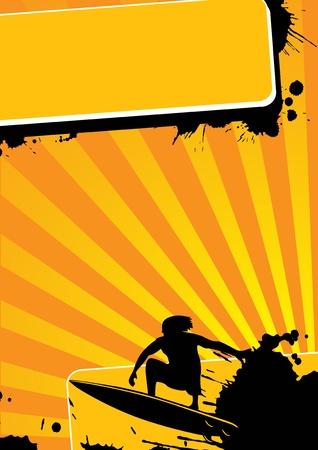 Grunge surf sport (background, web, slyer, magazin...)  photo