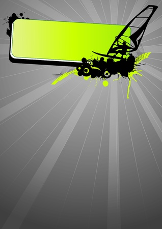 windsurf: Grunge windsurf sport (background, web, slyer, magazin...)