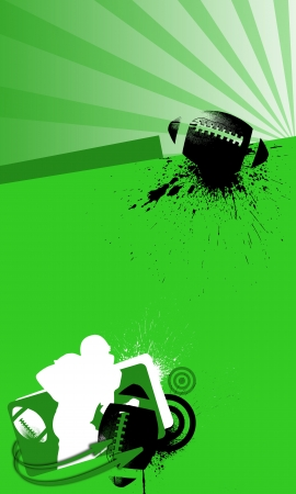 rugger: Grunge american football background with space  poster, web, leaflet, magazine  Stock Photo