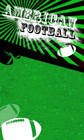 Grunge american football background with space  poster, web, leaflet, magazine  photo