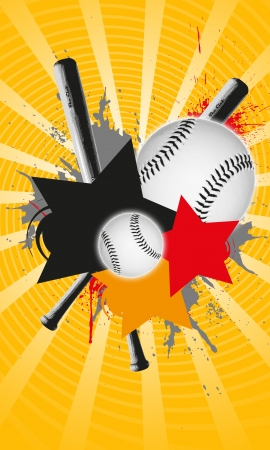 Abstract baseball background with space (poster, web, leaflet, magazine) Stock Photo - 14031951