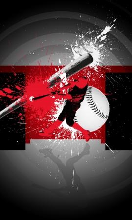 공간을 가진 추상 야구 배경 (포스터, 웹, 전단지, 잡지)