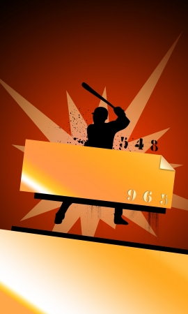 Abstract baseball background with space (poster, web, leaflet, magazine) Stock Photo - 14031518