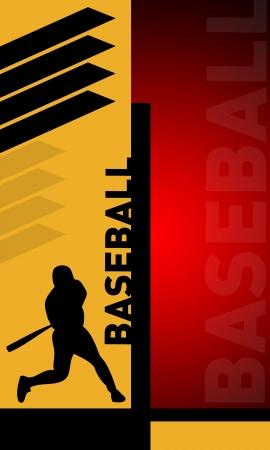 strong base: Baseball sfondo astratto con lo spazio (poster, web, depliant, riviste) Archivio Fotografico