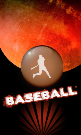 Abstract baseball background with space (poster, web, leaflet, magazine) Stock Photo - 14032418