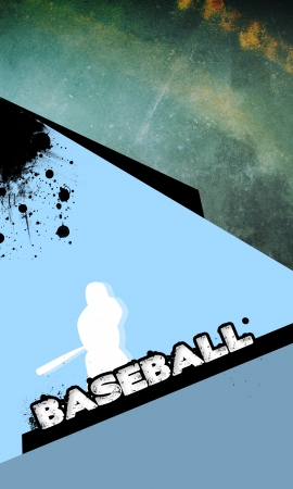 shortstop: Abstract baseball background with space (poster, web, leaflet, magazine) Stock Photo