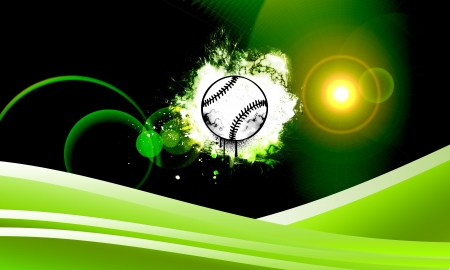 Abstract baseball background with space (poster, web, leaflet, magazine) photo