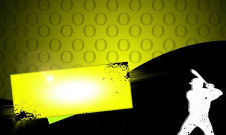 outfielders: Abstract baseball background with space (poster, web, leaflet, magazine) Stock Photo