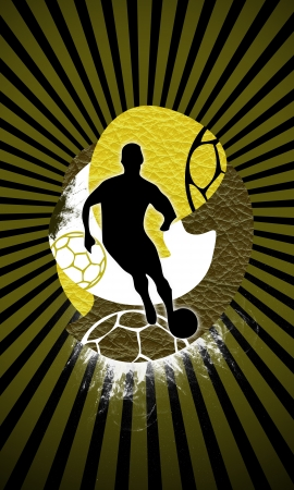 Soccer background with space (poster, web, leaflet, magazine) photo