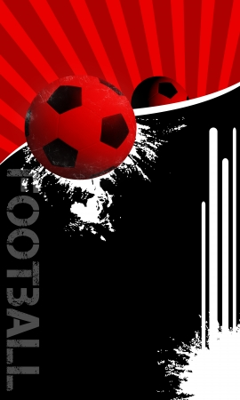 Football background with space (poster, web, leaflet, magazine) photo