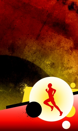 physical activity: Running background with space (poster, web, leaflet, magazine)