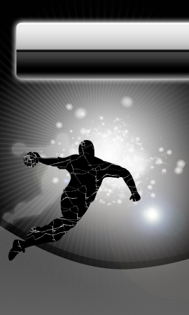 champ: Handball shot background with space (poster, web, leaflet, magazine)