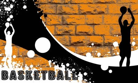 basket ball: Basketball background with space (poster, web, leaflet, magazine)