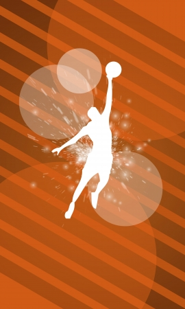 nba: Basketball background with space (poster, web, leaflet, magazine)