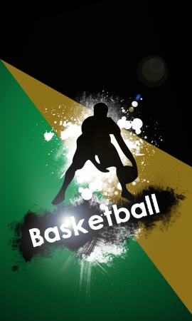 dunk: Basketball background with space (poster, web, leaflet, magazine)
