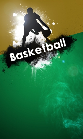 basketball background: Basketball background with space  poster, web, leaflet, magazine