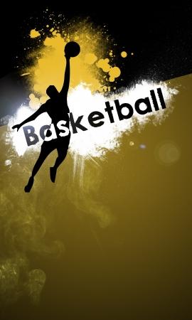 スペース ポスター、web、パンフレット、雑誌でのバスケット ボールの背景